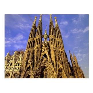 Europe, Spain, Barcelona, Sagrada Familia Postcard