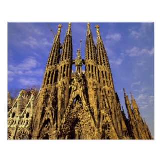 Europe, Spain, Barcelona, Sagrada Familia Poster