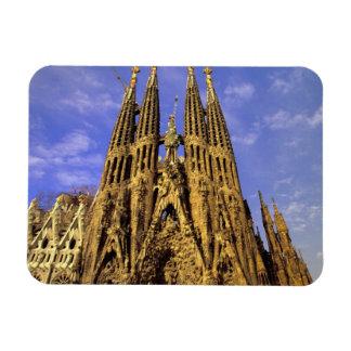 Europe, Spain, Barcelona, Sagrada Familia Rectangular Photo Magnet