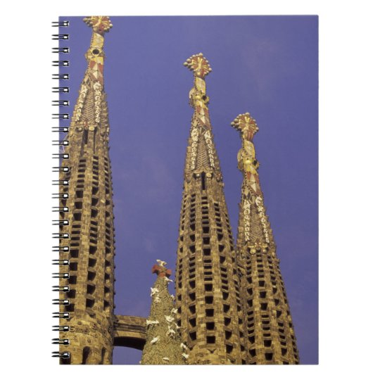 Europe, Spain, Barcelona Sagrada Familia Spiral Notebook