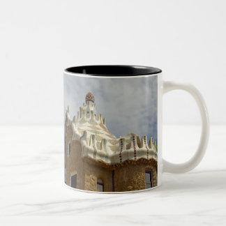 Europe, Spain, Catalunya, Barcelona. Park Guell, 2 Two-Tone Coffee Mug