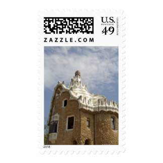 Europe Spain Catalunya Barcelona Park Guell Postage