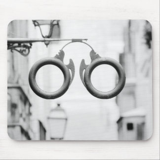 Europe, Spain, Mallorca. Eyeglass shop sign, Mouse Pad