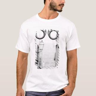 Europe, Spain, Mallorca. Eyeglass shop sign, T-Shirt