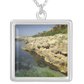 Europe, Spain, Minorca (aka Menorca), Binibeca. 2 Silver Plated Necklace