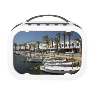 Europe, Spain, Minorca (aka Menorca). Fishing Yubo Lunch Boxes