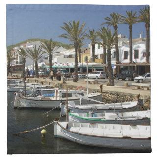 Europe, Spain, Minorca (aka Menorca). Fishing Printed Napkin