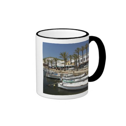 Europe, Spain, Minorca (aka Menorca). Fishing Ringer Mug