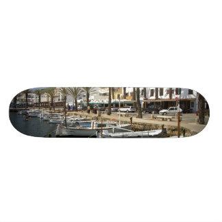 Europe, Spain, Minorca (aka Menorca). Fishing Skateboard