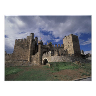 Europe, Spain, Ponferrada, Leon. Templer Photo Print