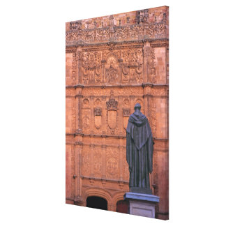 Europe, Spain, Salamanca. Coats-of-arms and Canvas Print