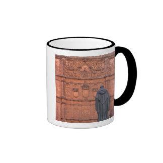 Europe, Spain, Salamanca. Coats-of-arms and Ringer Coffee Mug