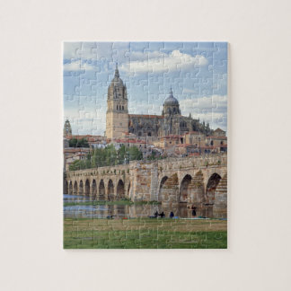 Europe, Spain, Salamanca. The Roman bridge over Jigsaw Puzzle