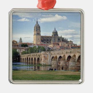 Europe, Spain, Salamanca. The Roman bridge over Metal Ornament