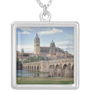 Europe, Spain, Salamanca. The Roman bridge over Square Pendant Necklace