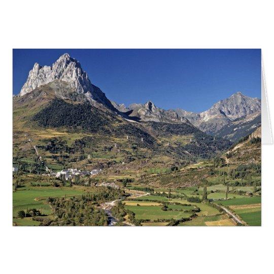 Europe, Spain, Sallent de Gallego. A small Card