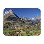 Europe, Spain, Sallent de Gallego. A small Rectangular Photo Magnet