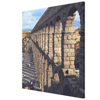 Europe, Spain, Segovia. Late light casts shadows Canvas Print
