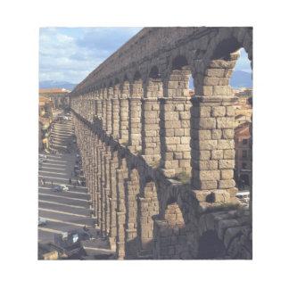 Europe, Spain, Segovia. Late light casts shadows Notepad
