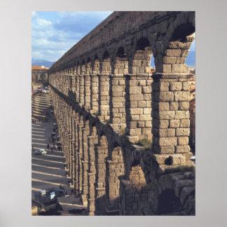 Europe, Spain, Segovia. Late light casts shadows Poster