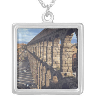 Europe, Spain, Segovia. Late light casts shadows Silver Plated Necklace