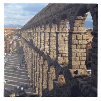 Europe, Spain, Segovia. Late light casts shadows Tile