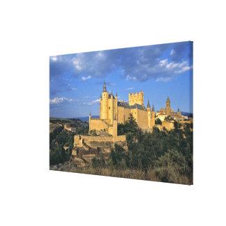 Europe, Spain, Segovia. The Alcazar, a World Canvas Print