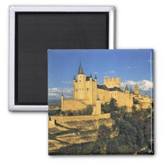 Europe, Spain, Segovia. The imposing Alcazar, 2 Inch Square Magnet