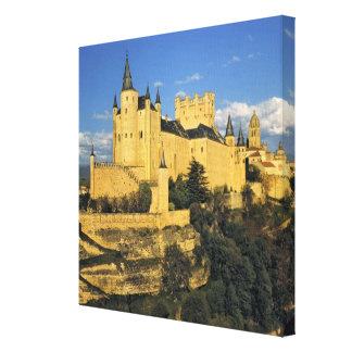 Europe, Spain, Segovia. The imposing Alcazar, Canvas Print