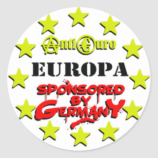 EUROPE Sponsored by Germany Classic Round Sticker