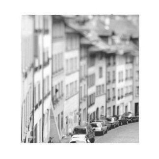 Europe, Switzerland, Bern. Old City buildings Notepad