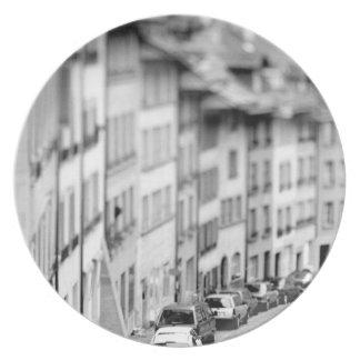 Europe, Switzerland, Bern. Old City buildings Plate