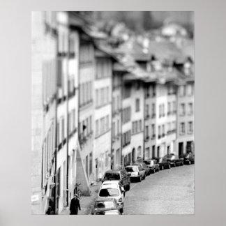 Europe, Switzerland, Bern. Old City buildings Poster