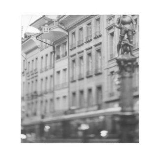 Europe, Switzerland, Bern. Tram, Marktgasse Note Pad