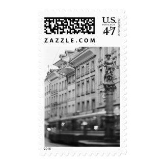 Europe, Switzerland, Bern. Tram, Marktgasse Postage