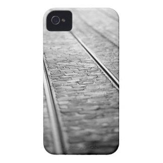 Europe, Switzerland, Bern. Tram tracks, 2 iPhone 4 Covers
