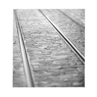 Europe, Switzerland, Bern. Tram tracks, 2 Note Pad
