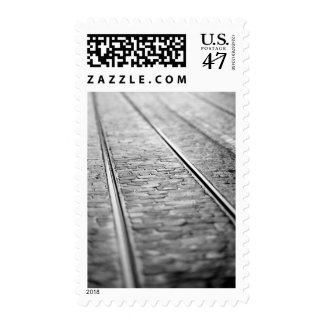 Europe, Switzerland, Bern. Tram tracks, 2 Postage