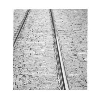 Europe, Switzerland, Bern. Tram tracks, Note Pad