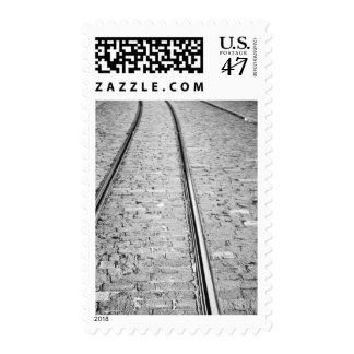 Europe, Switzerland, Bern. Tram tracks, Postage