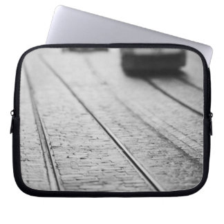 Europe, Switzerland, Berne. Tram tracks, Laptop Computer Sleeve