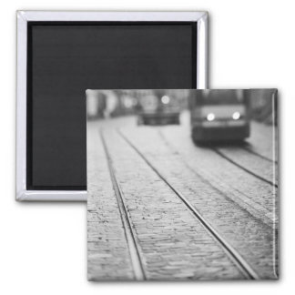 Europe, Switzerland, Berne. Tram tracks, Magnet