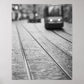 Europe, Switzerland, Berne. Tram tracks, Posters