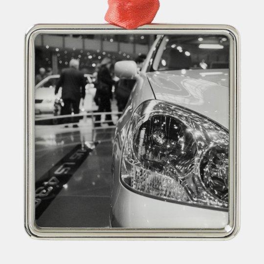 Europe, Switzerland, Geneva. Geneva Motor Show; 2 Metal Ornament