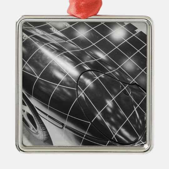 Europe, Switzerland, Geneva. Geneva Motor Show; 3 Metal Ornament