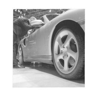 Europe, Switzerland, Geneva. Geneva Motor Show; 5 Note Pad