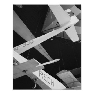Europe, Switzerland, Lucerne. Aerial glider Poster