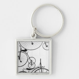 Europe, Switzerland, Lucerne. Bicycle display, Keychain