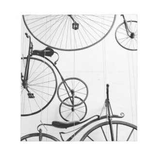 Europe, Switzerland, Lucerne. Bicycle display, Notepad