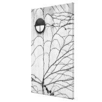 Europe, Switzerland, Lucerne. Ivy pattern on Canvas Print